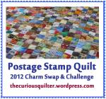 The Curious Quilter hosts the Postage Stamp Quilt 2012 Charm Swap & Challenge